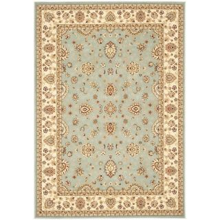 Majesty Extra Fine Light Blue/ Cream Rug (8 x 11)