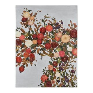 Manuela Jarry Floral Garden Hand painted Canvas Art