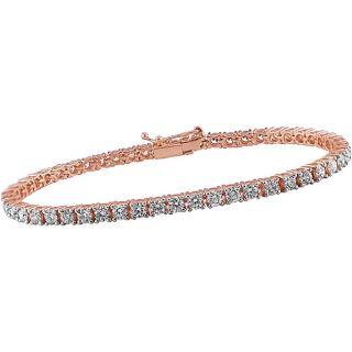 18k Pink Gold 5ct TDW Diamond Tennis Bracelet (G H, SI)