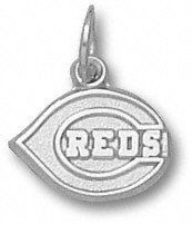 Cincinnati Reds Sterling Silver C REDS Logo 5/16
