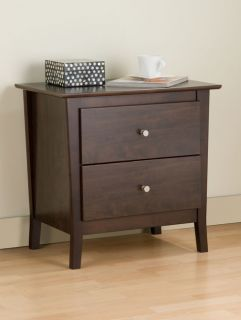 Everett Espresso 2 Drawer Night Stand