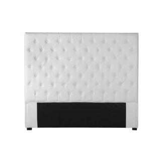 Tête de lit capitonné 160 cm PU blanc TERRA   Achat / Vente TETE DE