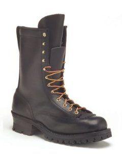 : Hathorn Explorer 10 inch Lace to Toe Logger Boot 9.5D Black: Shoes