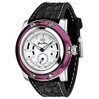 Glam Rock Womens Miami White Dial Black Silicon Watch