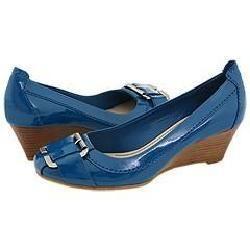 Nine West Tuffy Blue Patent Pumps/Heels