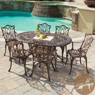 Christopher Knight Home Haitian Cast Aluminum Outdoor Dining Set (Set