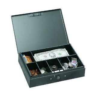 MMF Industries Low Profile Steel Cash Box, Gray (221F10GRA
