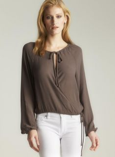 Marc By Marc Jacobs Crepe Cross Over Blouse Today $110.69