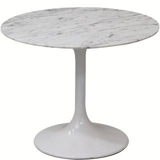Lippa White Marble 24 inch Side Table