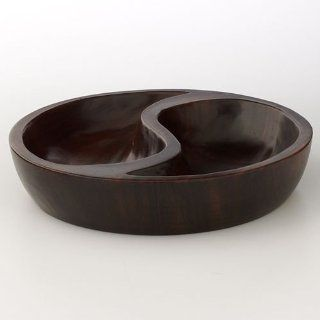 Forest Java Wood Yin/Yang Bowl, 222 Fifth Decor: Home & Kitchen