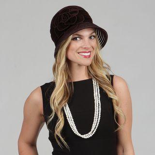 Swan Womens Velvet Cloche Packable Hat