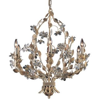 Weathered Beige 6 light Chandelier