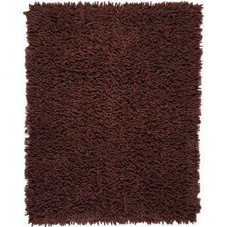 Modern Eco Shag Chocolate Brown Rug (5 x 8) Today $263.99 Sale $
