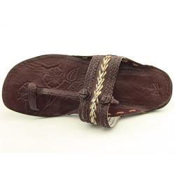 White Mountain Womens Thailand Brown/Multi T Strap Sandal Open Toe
