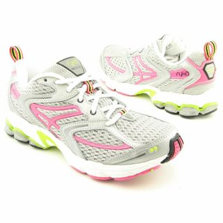 Ryka Womens Revive Womens UK Gray Grey/Dark Pink/Light Green Running