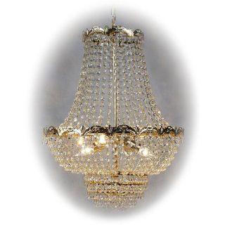 Milano Italian 4 light Gold Crystal Chandelier