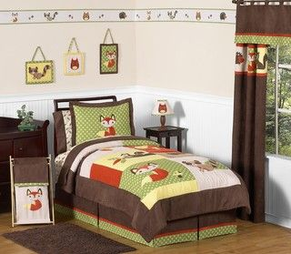 Sweet JoJo Designs Forest Friends 4 Piece Twin Bedding Set
