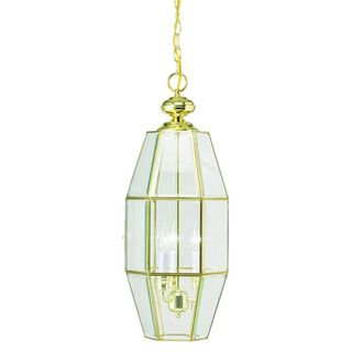 Crystal Palace 3 Light Polished Brass Foyer Pendant