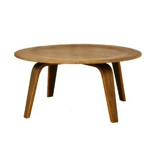 Harper Mid Century Modern Molded Plywood Coffee Table in