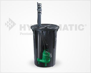 Hydromatic 218 Sewage Package Basin System, Assembled, Featuring