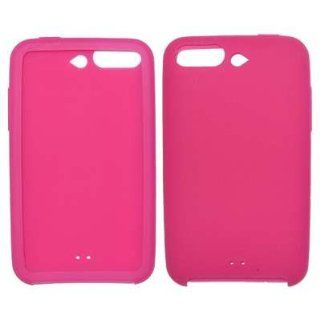Hot Pink Soft Silicone Gel Skin Cover Case for Apple iPod