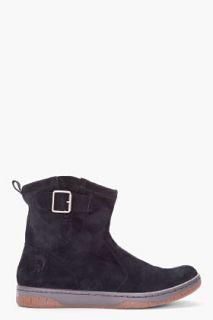Diesel Black Nubuck High top Bikerino Boots for men
