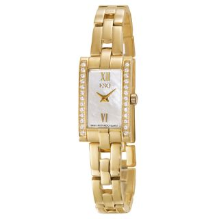 ESQ by Movado Womens Flair Stainless Steel Yellow Gold Plated Watch