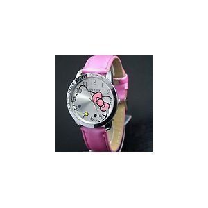 Hello Kitty Large Face Quartz Watch   Pink Band + Pouch ?random? from