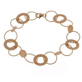 14k Yellow Gold Open Circle Link Bracelet