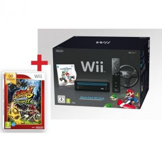 PACK WII NOIR MARIO KART + MARIO STRIKERS CHARGED   Achat / Vente WII