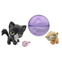 LITTLEST PET SHOP   Hamster & Longhair Cat with a Cute