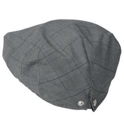 Boston Traveler Mens Adjustable Snap Back Plaid Ivy Cap