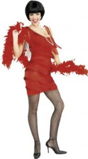 Adult Flapper Fringe Dress Costume   Large Clothing