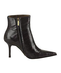 Dolce & Gabbana Dark Grey Stamped Eel Boots