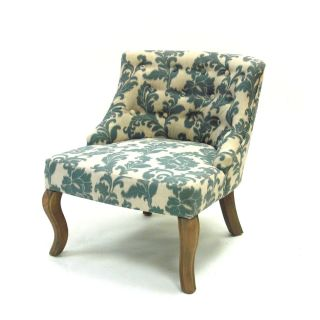 iKat Blue / Off White Fabric Accent Chair
