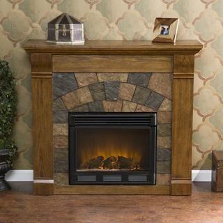 Stonegate Antique Oak Electric Fireplace