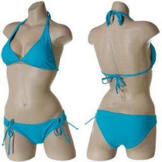 JAMAICAN STYLE Brazilian Halter Bikini (Turquoise), Small