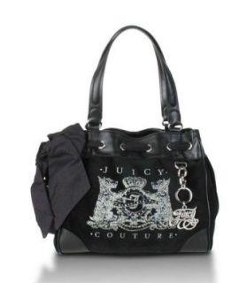 Bling Black Velour Daydreamer Tote Yhru0111 Nwt Msrp $228 Clothing