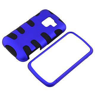 Blue/ Black Fishbone Snap on Case for LG Enlighten VS700