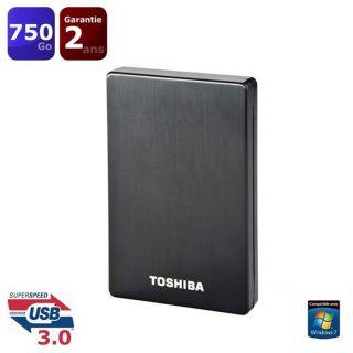 Toshiba STOR.E ALU 2S 750 Go noir   Achat / Vente DISQUE DUR EXTERNE
