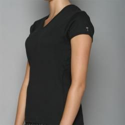 Golftini Womens Black V neck Golf Shirt