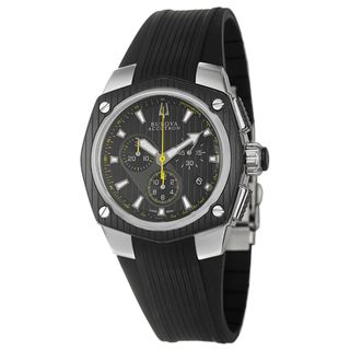 Bulova Accutron Mens Corvara Black Ion plated Stainless Steel Watch