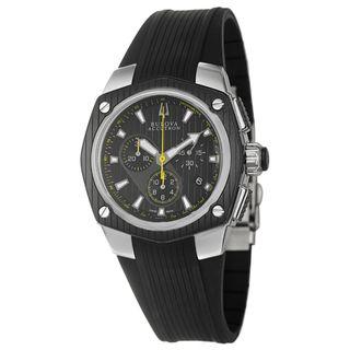 Bulova Accutron Mens Corvara Black Ion plated Stainless Steel Watch