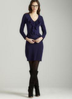 Calvin Klein Ruffle front sweater dress