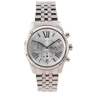 Michael Kors Womens Lexington Silver Dial Chronograph Watch