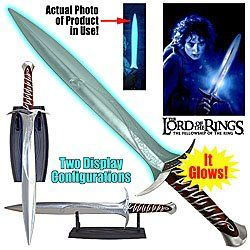 Lord of the Rings Glowing Sting FX Toy Sword with Stand