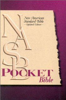 New American Standard 95 Pocket Bible Burgundy Bonded Leather with
