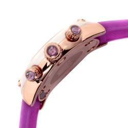 Glam Rock Womens Miami Purple Silicone Watch