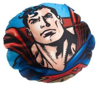Superman Flying High Micro Bead Round Decorative Pillow