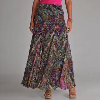 Chelsea & Theodore Womens Paisley Maxi Skirt